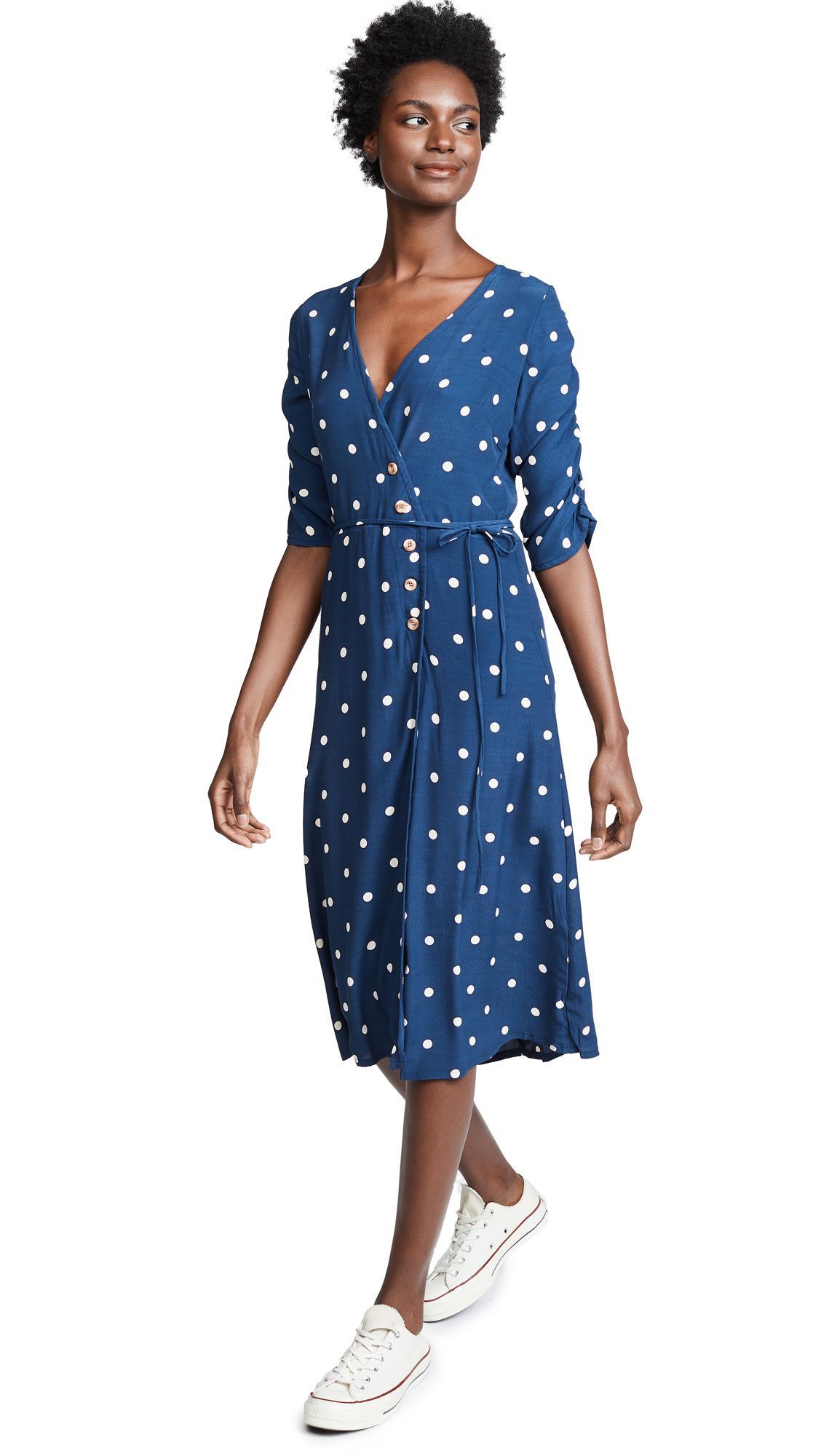 d17fd34646b0 Faithfull The Brand Anne Marie Midi Dress In Ronja Dot Vintage Blue ...