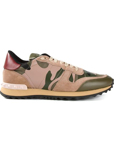 113705fae93db Valentino Leather Rockstud Sneakers In Military Green | ModeSens