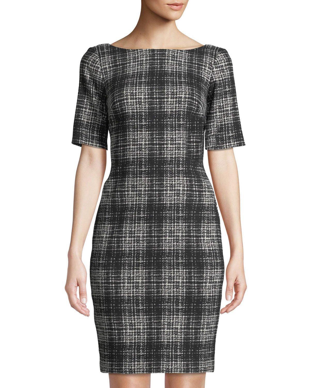 d400b8dbcd Gray Short Sleeve Sheath Dress - Data Dynamic AG