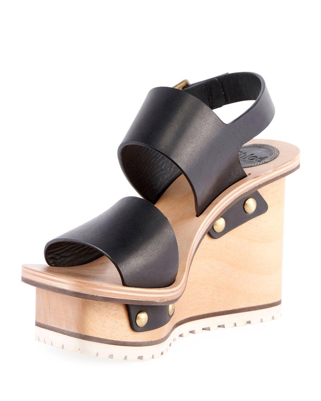 8aa57c3c5c3dad ChloÉ Women s Valentine Platform Wedge Sandals In Black