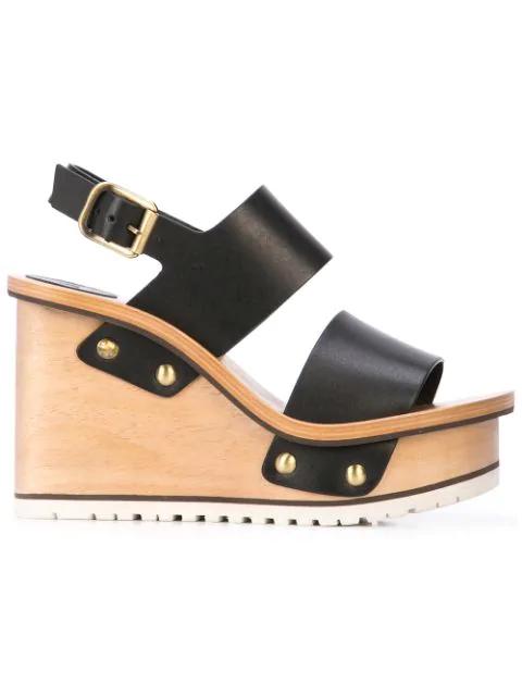 ChloÉ Women's Valentine Platform Wedge Sandals In Black