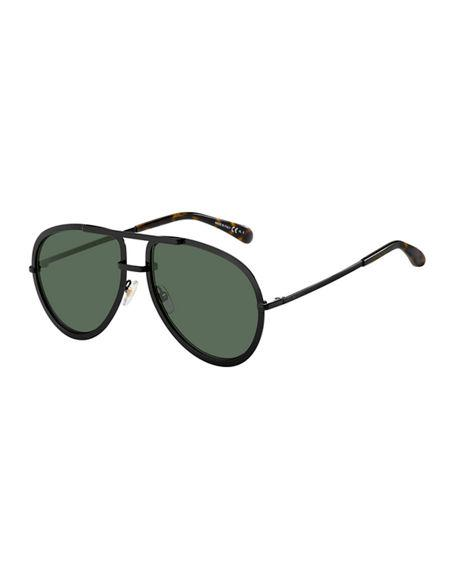 3a0575c3474 Givenchy Men s Full-Rimmed Metal Aviator Sunglasses In Black