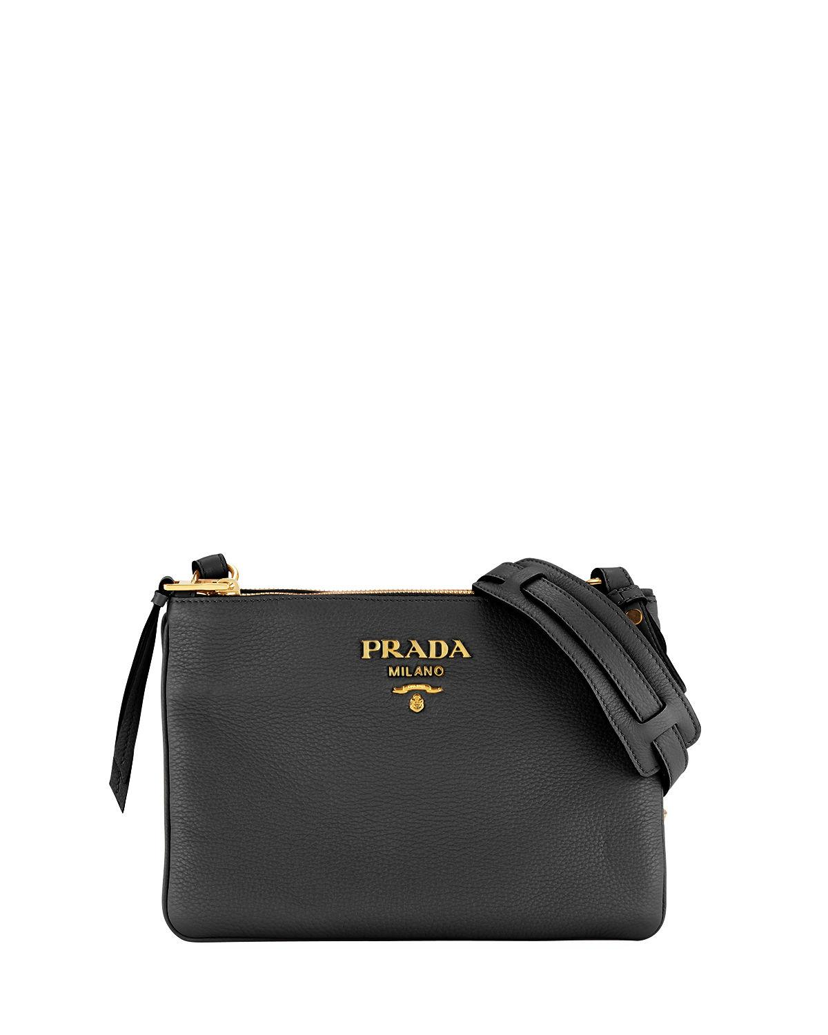 ebc3a2f3ca10da Prada Daino Crossbody Bag In Black | ModeSens