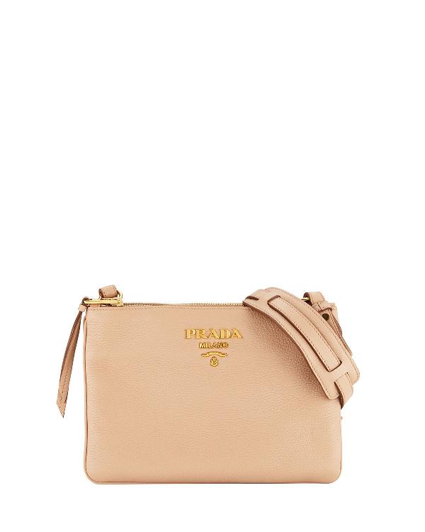 ad35cd8b35d805 Prada Daino Crossbody Bag In Blush | ModeSens