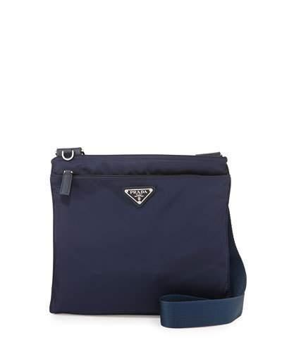 Prada Vela Small Nylon Crossbody Bag, Blue (Baltico) In Baltico Blue