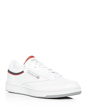 417998d910d7 Reebok Men. REEBOK. Men s Classic Club 85 Perforated Leather Lace-Up ...