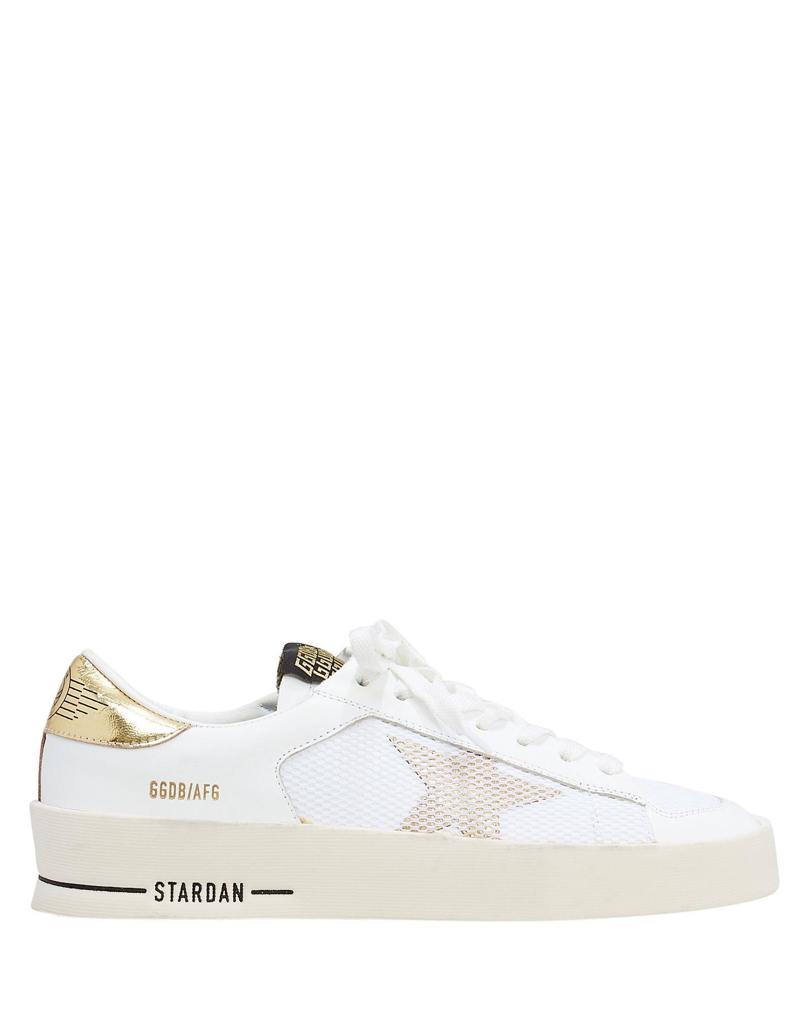 510b7d63f0e1 Star Dan White Leather Sneakers