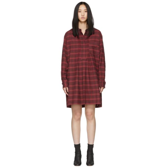 Isabel Marant Etoile Red Flannel Dancy Dress In 70rd Red