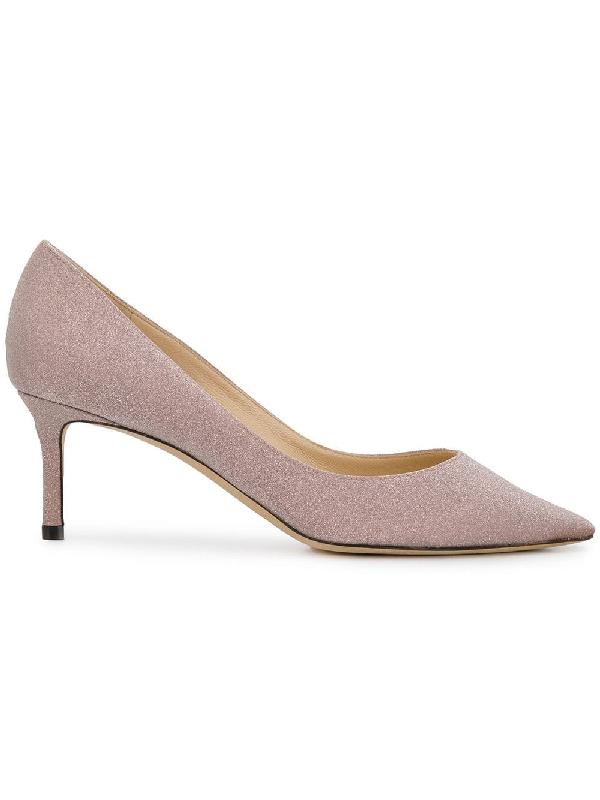 507018d33b20 Jimmy Choo Romy 60 Ballet Pink Fine Glitter Fabric Pointy Toe Pumps In  Neutrals