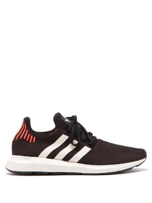 38bec3fab3e10 Adidas Originals Swift Run Knit Low-Top Trainers In Black