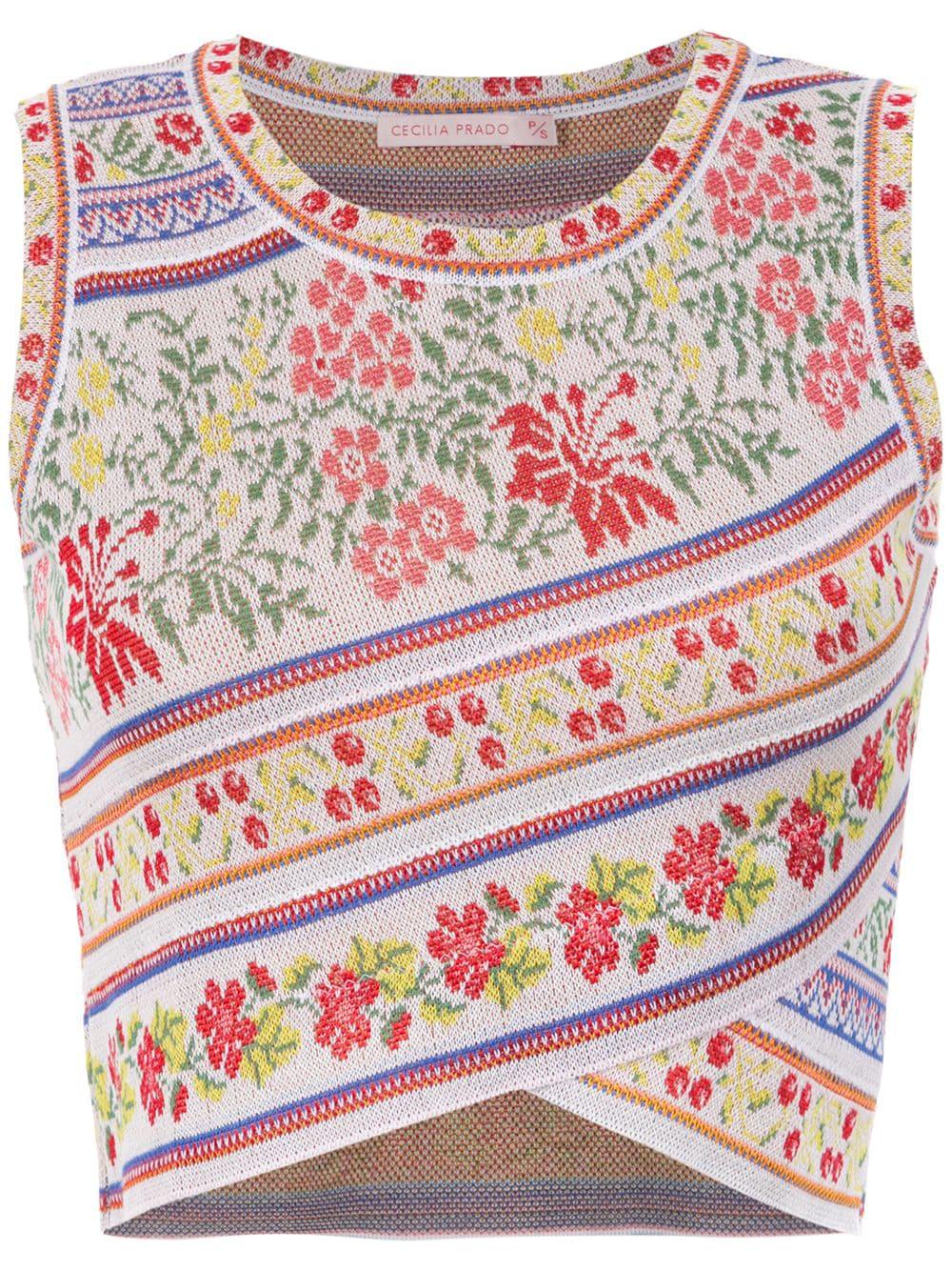44cf6a13446fae Cecilia Prado Adele Cropped Top - White | ModeSens