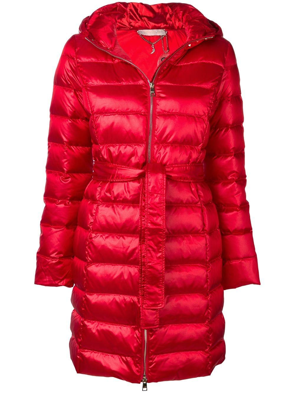 a8bbbb3cfa Liu •Jo Liu Jo Belted Puffer Coat - Red | ModeSens