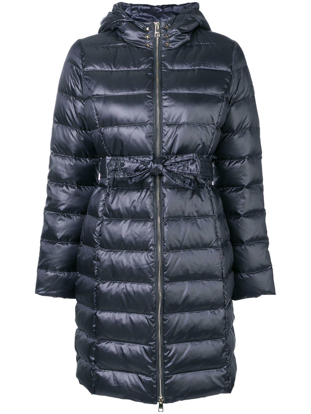 d15f2c2eff Liu •Jo Liu Jo Tie Waist Puffer Coat - Grey | ModeSens
