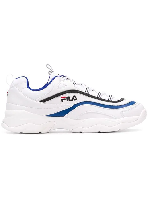 Fila Sneakers In White-blue Leather