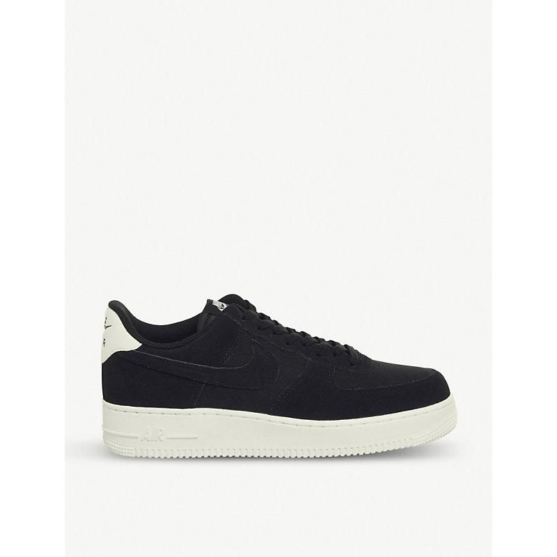official photos 774d8 14488 Nike Air Force 1  07 Suede Trainers In Black Black Sail