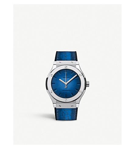 Hublot 511.nx.050b.vr. Ber16 Classic Fusion Berluti Blue Ceramic Watch