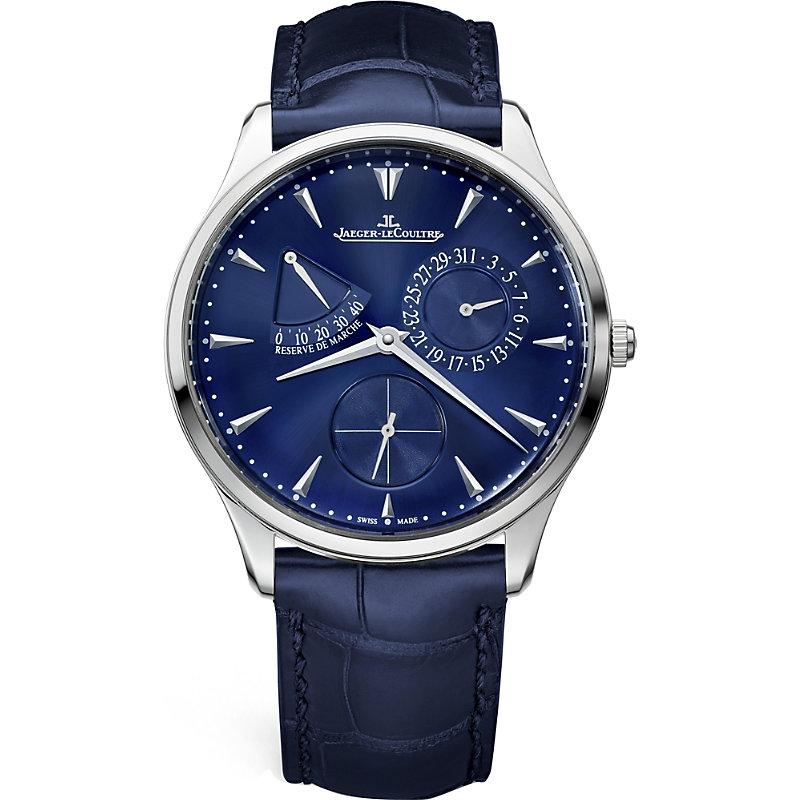 Jaeger lecoultre master ultra thin r serve de marche stainless steel watch in silver modesens for Jaeger lecoultre kinetic