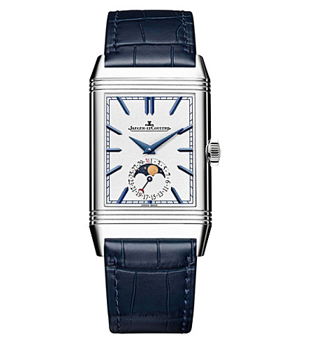 Jaeger-lecoultre Q3958420 Reverso Stainless Steel And Leather Watch In Silver