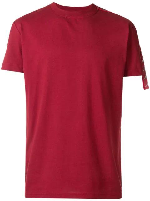 Kappa Kontroll Logo Stripe T-shirt In Red