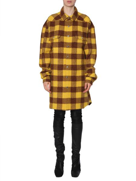 Rick Owens Oversize-Fit Shirt In Yellow
