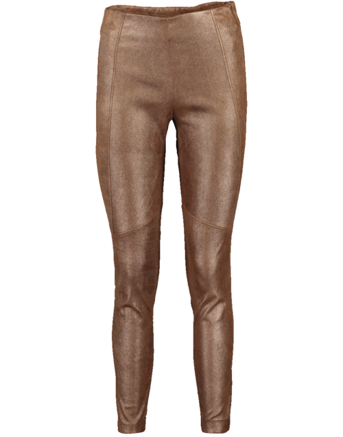 Brunello Cucinelli Metallic Leather Legging In Bronze