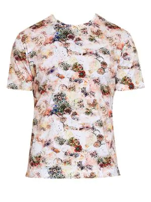 Robert Graham Chateau Knit Tee In Multi