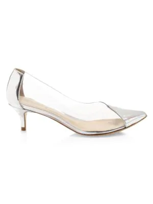 Schutz Cyou Patent Leather Pumps In White
