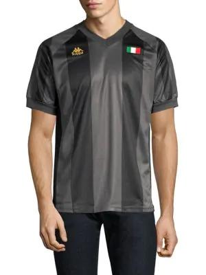 b8b5b5f49a Kappa Authentic Wolser Soccer Jersey In Black Gold | ModeSens