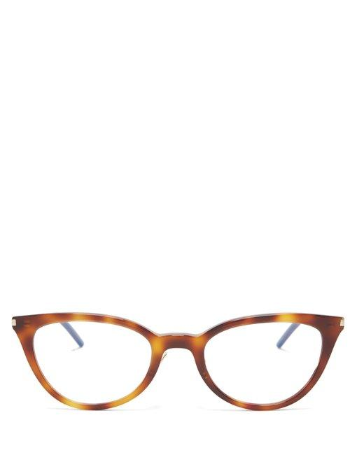 f5ecd3e23 Saint Laurent - Cat Eye Acetate Glasses - Womens - Tortoiseshell ...