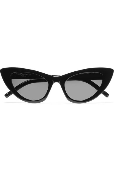 Saint Laurent Lily Cat-Eye Acetate Sunglasses In Black