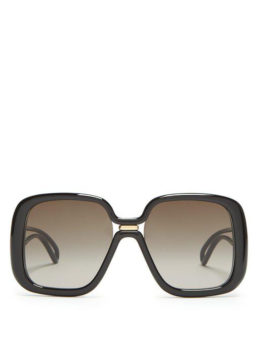 7302306c56b4 Givenchy Oversized Square-Frame Acetate Sunglasses In Black | ModeSens