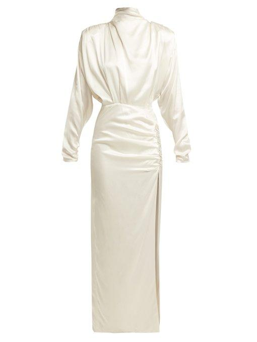 the best attitude online retailer really cheap Crystal-Embellished Silk-Satin Gown in White