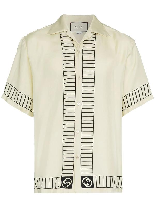f3800924d Gucci - Ny Yankees Print Silk Shirt - Mens - Ivory In White | ModeSens