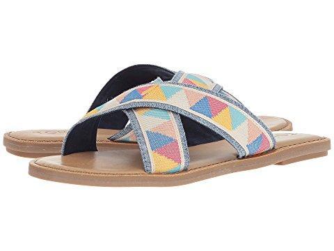 b9366ddcae8 Toms Women's Viv Metallic Jute Fringe Crisscross Slide Sandals In ...