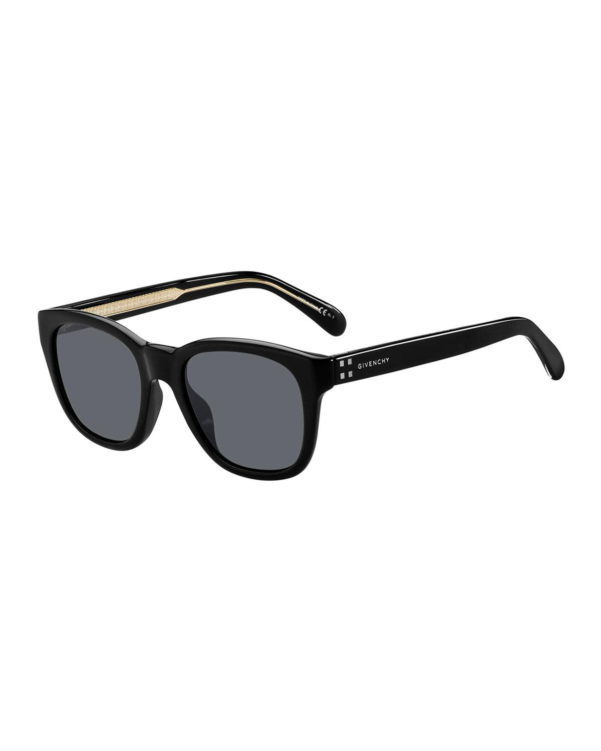 Givenchy Men's Square Acetate Sunglasses In Black