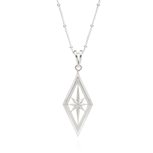 Rachel Jackson London Nova Star Necklace In Silver