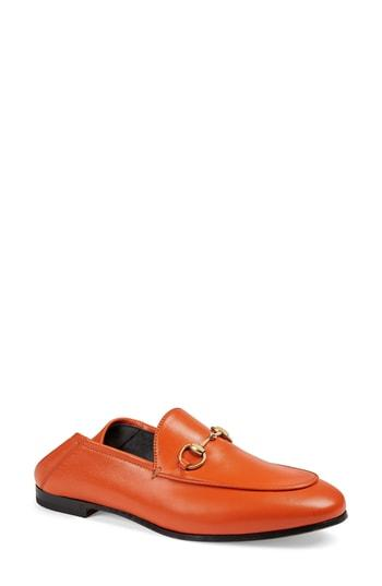 Gucci 10Mm Brixton Leather Loafer In Brown