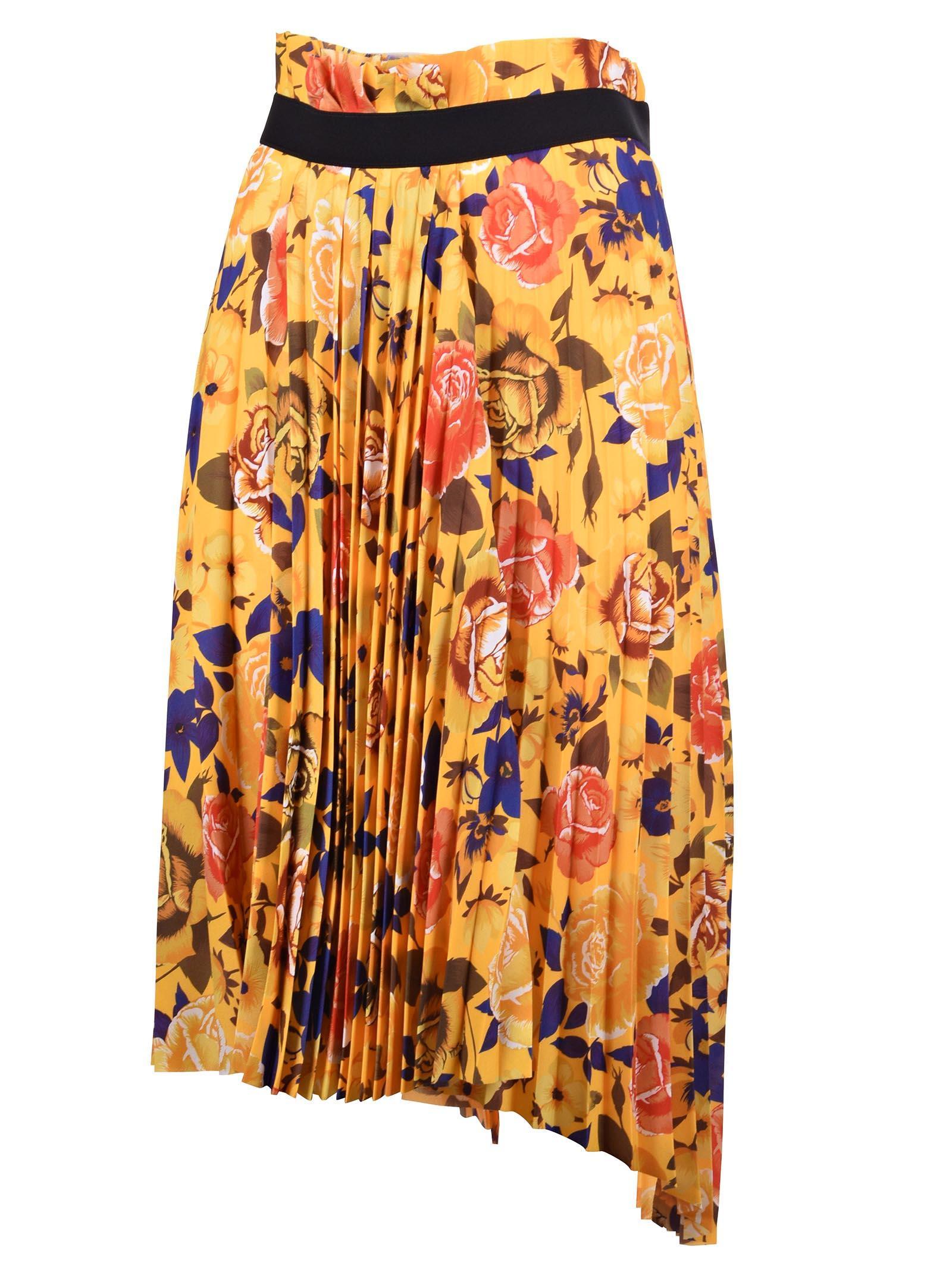a1af41c3ec7e Balenciaga Fancy Pleated Skirt In Yellow