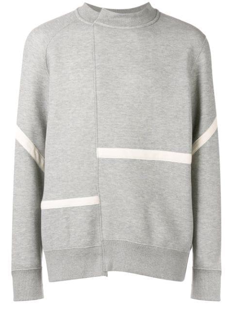 Sacai Asymmetrical Jersey Sweater - Grey