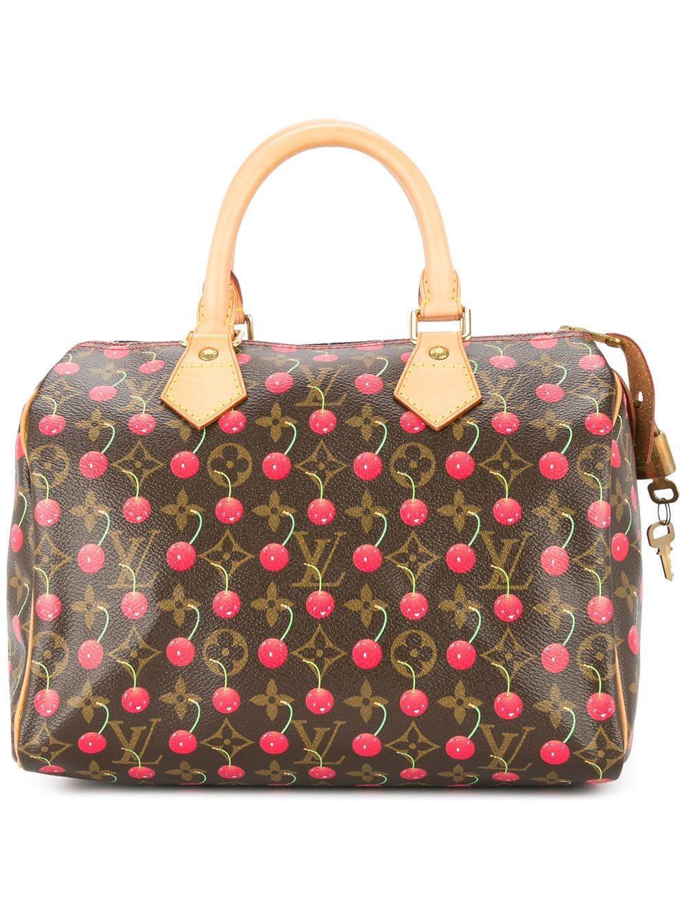 f090c793f17 Louis Vuitton Speedy 25 Cherry Monogram Handbag In Brown