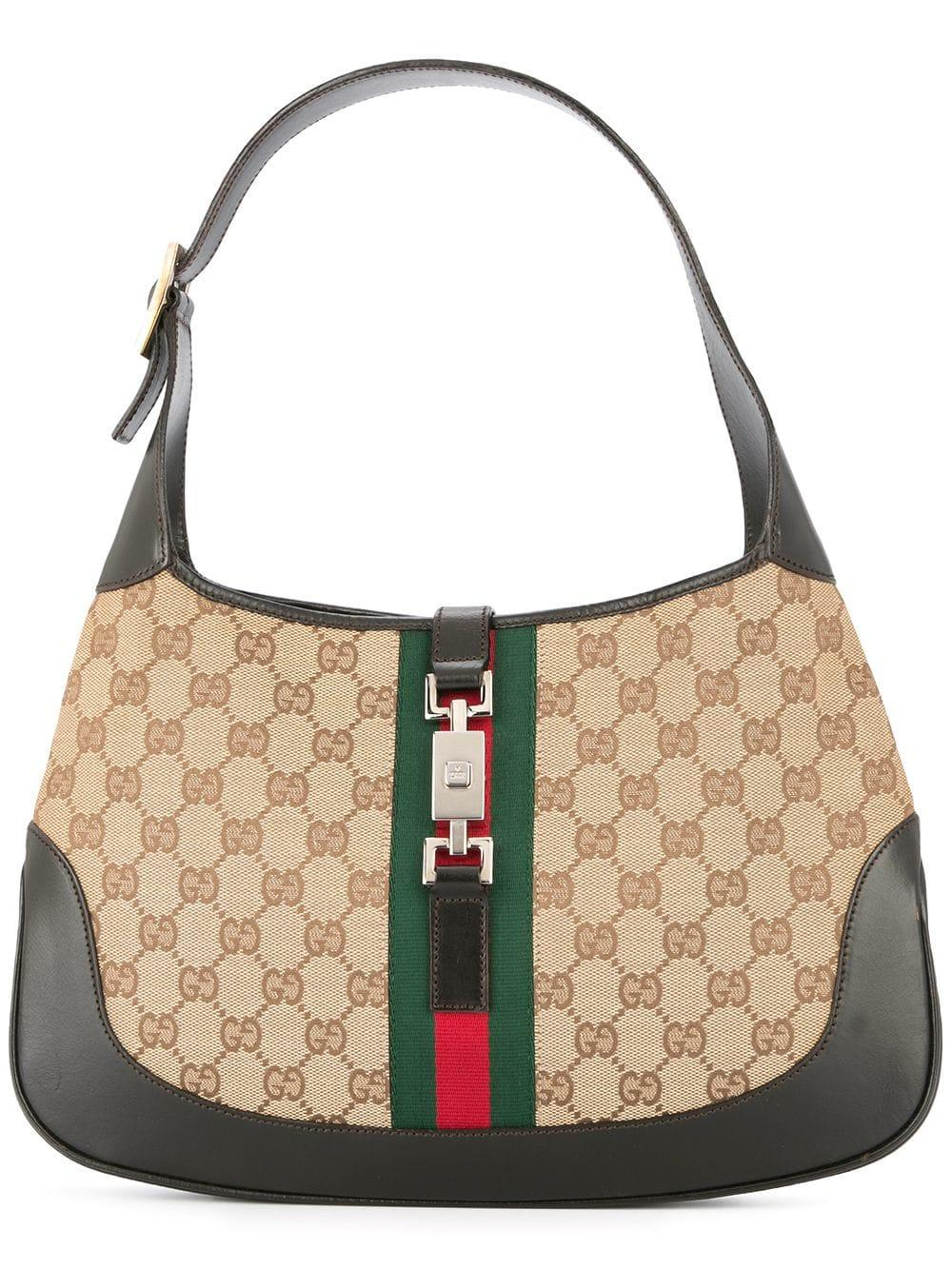 6bbff2bd5a065f Gucci Jackie Gg Shelly Line Shoulder Bag In Brown | ModeSens