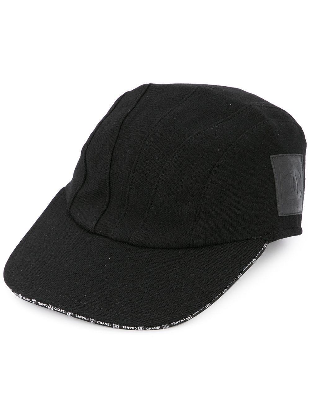b19a65f6269 Chanel Vintage Cc Cap Hat - Black