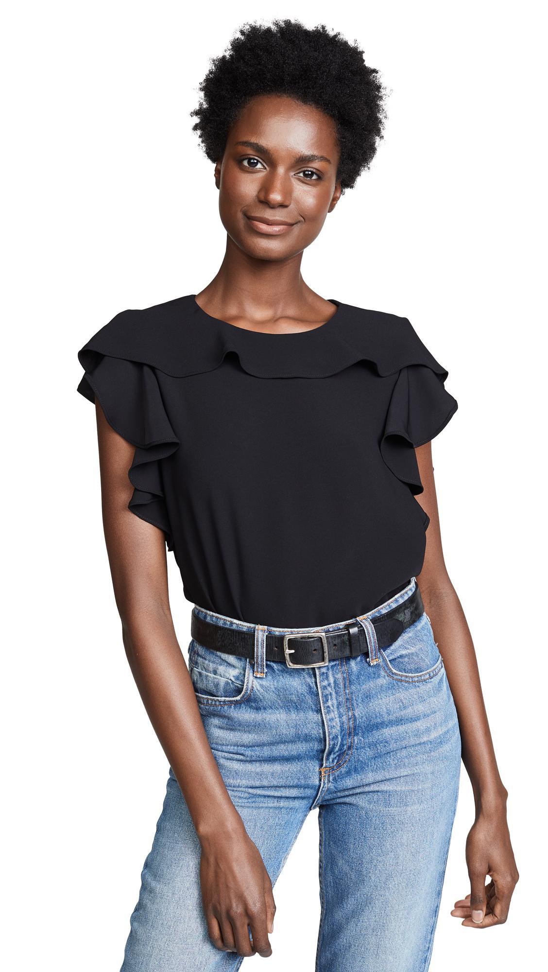 08e0c991a3ff1 Amanda Uprichard Colette Top In Black