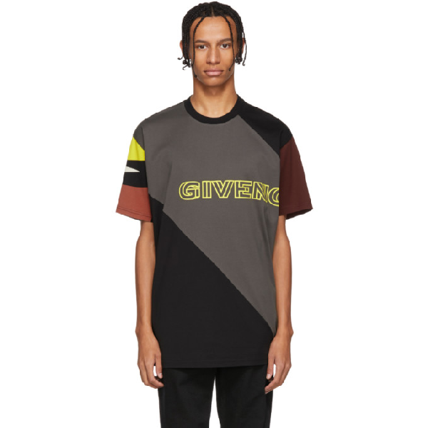 Givenchy Oversized Printed Cotton-jersey T-shirt - Black In 020 Black