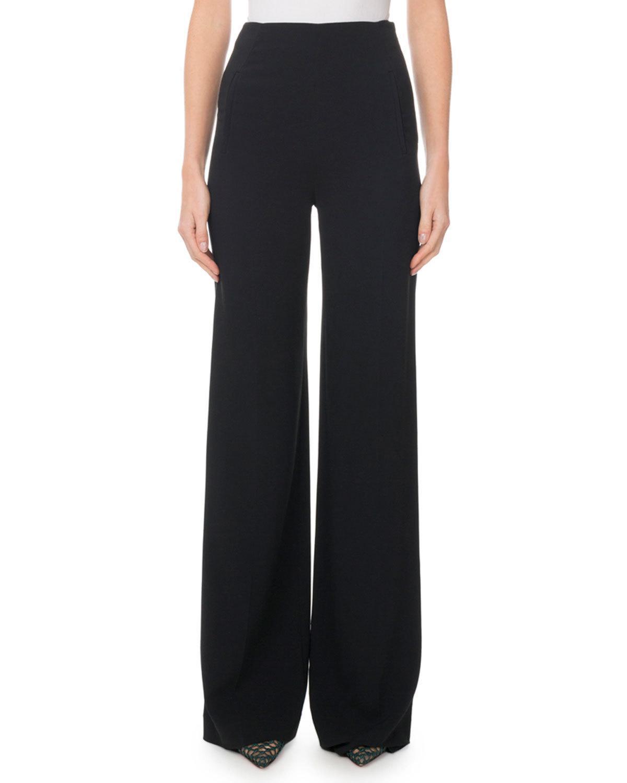 Roland Mouret Axon Wide-Leg Trousers In Black