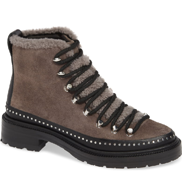aa85752fa50 Compass Suede & Shearling Ankle Boots in Gray