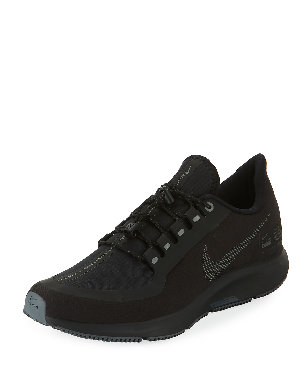 ee662987aae4 Nike Air Zoom Pegasus 35 Shield Gs Water Repellent Running Shoe In Black   Anthracite-