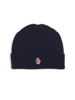 dcb0fd9cbe6 Moncler Ribbed Wool Hat In Navy