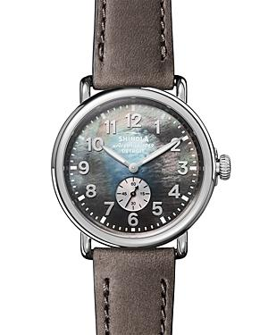 Shinola Runwell Mother-Of-Pearl Dial Watch, 41Mm In Heather Grey/ Mop/ Silver