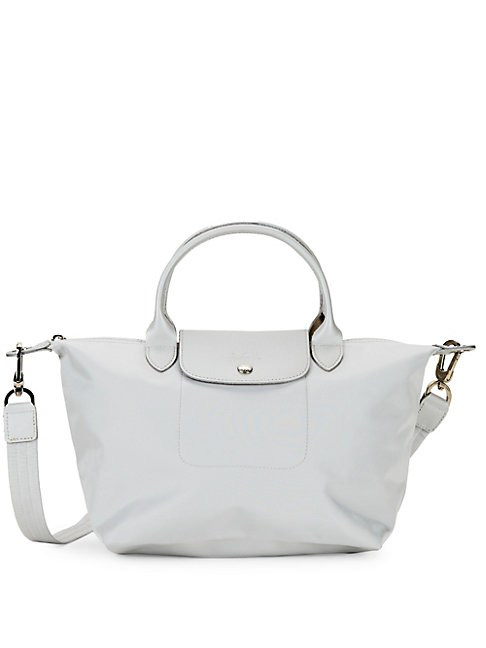 Longchamp Classic Top Handle In Silver